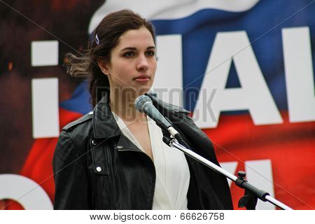 Nadia Tolokonnikova (pussy Riot) On The Peace March In Support Of Ukraine