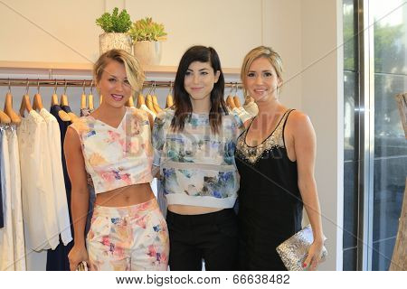LOS ANGELES - JUN 12:  Kaley Cuoco, Bri Cuoco, Ashley Jones at the Launch of the Little White Dress Capsule Collection at Rebecca Taylor Robertson Store on June 12, 2014 in Los Angeles, CA