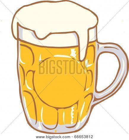 Beer mug vector design clipart