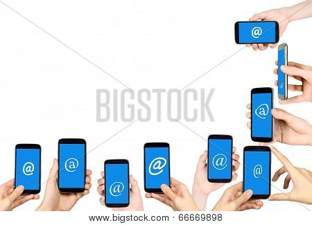 Hands And Mobile Phones, Frame