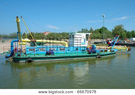 Dredger In Port