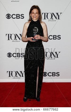 NEW YORK-JUNE 8: Lighting designer Natasha Katz poses in the press room at the American Theatre Wing's 68th Annual Tony Awards at Radio City Music Hall on June 8, 2014 in New York City.