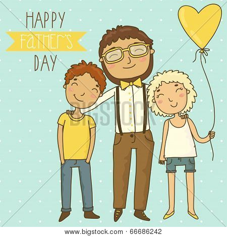 Bright card for father's day