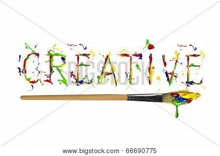 Colorful Paint Painted Word Creative