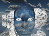 Surreal Face poster