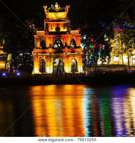 Ngoc Son Temple in Hanoi,Vietnam