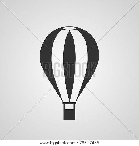 Vintage hot air balloon flat style