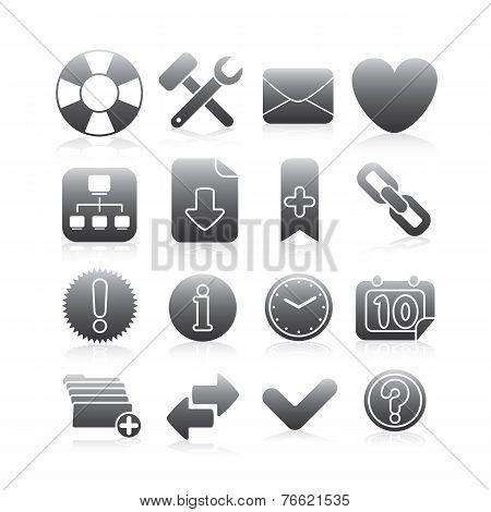 Internet Icons Set 2 Silhouette Series