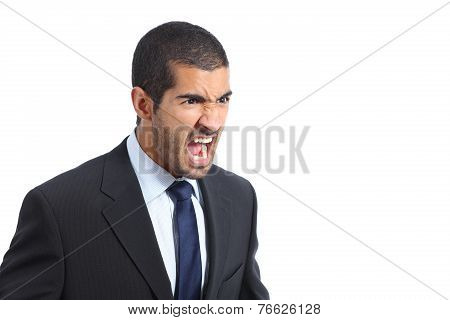 Angry Arab Business Man Shouting