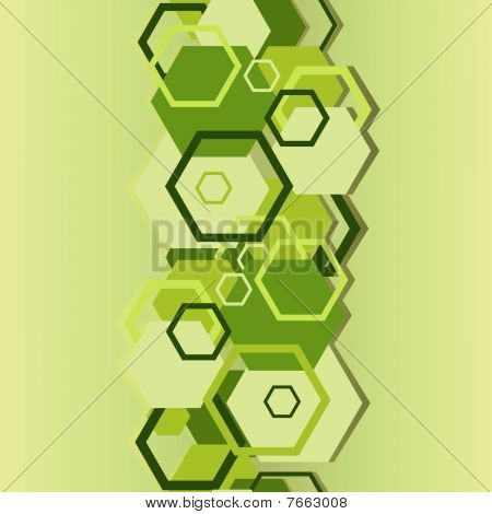 Seamless a background with hexagons