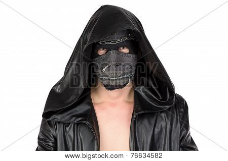 Image of the man dressed in hooded cloak
