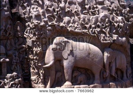 Arjuna's Penance,Mamallapuram,Tamil Nadu,India