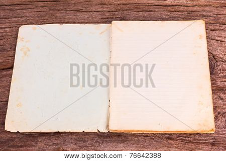 Old Opened Softcover Book With Empty Pages