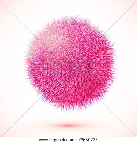 Pink fluffy vector isolated sphere