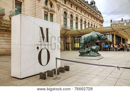 Rhino Sculpture At D'orsay Museum In Paris