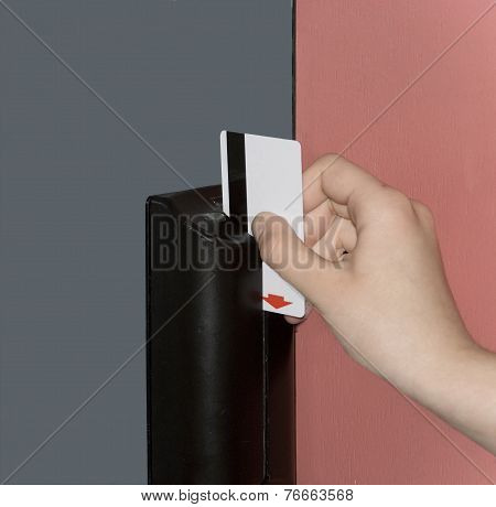 Door Opening By Means Of Magnetic Card