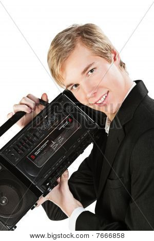 Young Man With Stereo