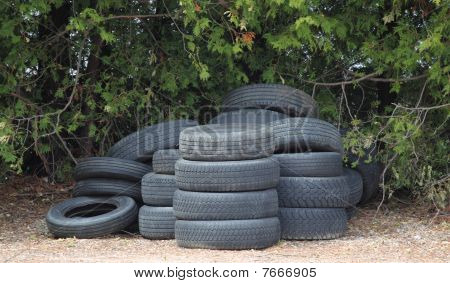 A Stack Of Tires