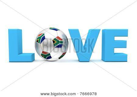 Sul-Africano de futebol amor azul
