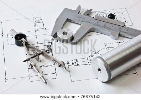 Mechanical Scheme And Calipers