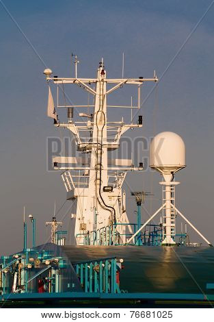 Navigation Equipment On The Mast