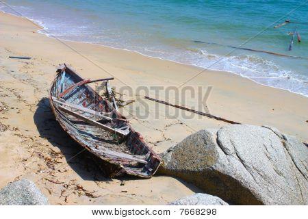 Destroyed boat