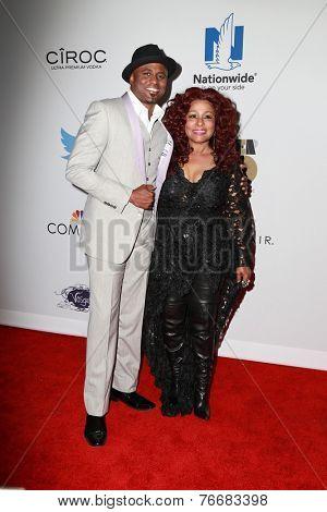 LOS ANGELES - NOV 19:  Wayne Brady, Chaka Khan at the Ebony Power 100 Gala at the Avalon on November 19, 2014 in Los Angeles, CA