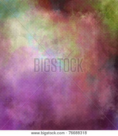 Colorful Textured Background In Violet, Red - Grunge Style