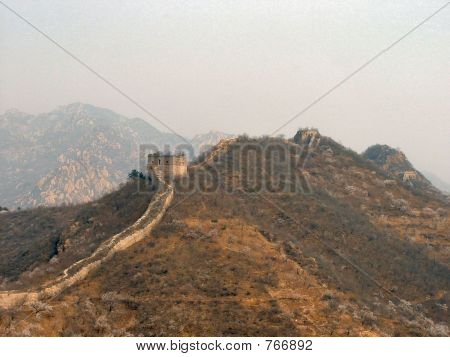 A Sweeping Portion of the Great Wall of China