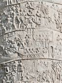 Closeup of Trajan's Column relief. Piazza Venezia. Rome. Italy. poster