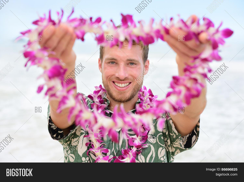 Hawaii Caucasian Man Image Photo Free Trial Bigstock