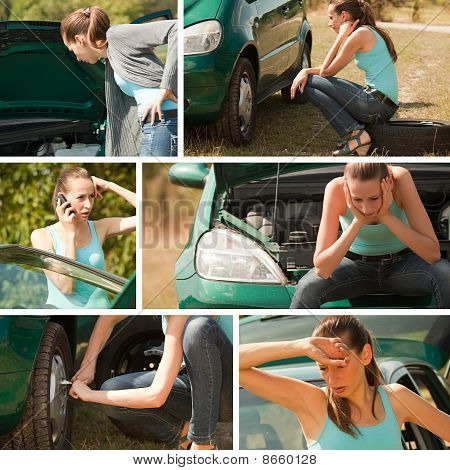 Car Breakdown Collage