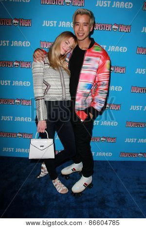 LOS ANGELES - MAR 26:  Jaime King, Jared Eng at the Just Jared's Throwback Thursday Party at the Moonlight Rollerway on March 26, 2015 in Glendale, CA