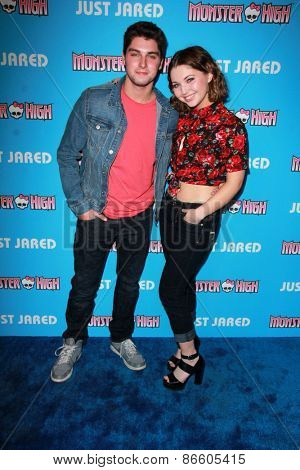 LOS ANGELES - MAR 26:  Cameron McKendry, Sammi Hanratty at the Just Jared's Throwback Thursday Party at the Moonlight Rollerway on March 26, 2015 in Glendale, CA