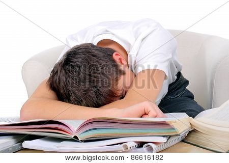 Tired Student Sleep
