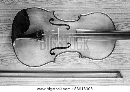 Black And White Violin