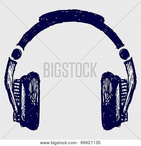 Headphones sketch