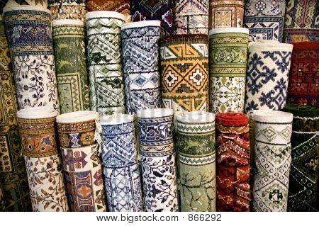 Ehtnic carpets texture