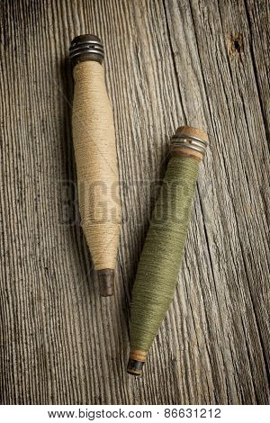Antinque Spindles Of Thread