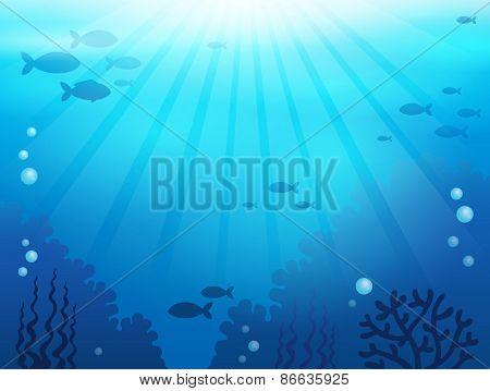 Ocean underwater theme background 1 - eps10 vector illustration.
