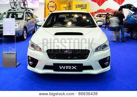 Bangkok - March 26 : New Subaru Wrx On Display At 36Th Bangkok International Motor Show On March 26,