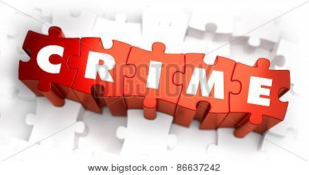 Crime - Text on Red Puzzles.