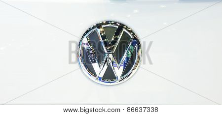 Bangkok - March 26 : Logo Of Volkswagen Van On Display At 36Th Bangkok International Motor Show On M