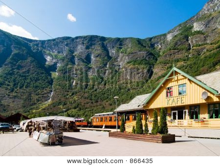 Mountain Town in the Fjords