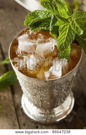 Refreshing Cold Mint Julep for the Derby poster