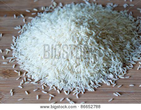 Small Pile Of Basmati Rice