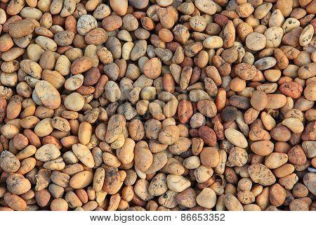 Pile Of Round Peeble Stones