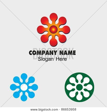 Flower sign symbol vector