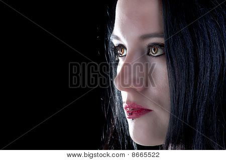Brown Eyed Gothic Girl