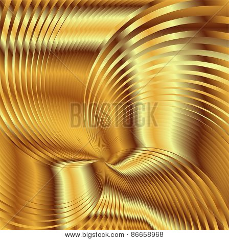 Golden metal Backgrounds Vector